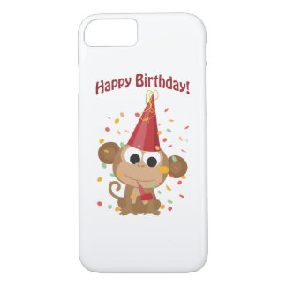 Happy Birthday! Confetti Monkey iPhone 8/7 Case