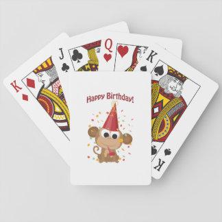 Happy birthday Confetti Monkey Poker Cards