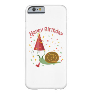Happy Birthday! Confetti Snail Barely There iPhone 6 Case
