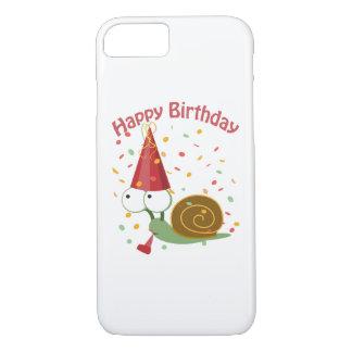Happy Birthday! Confetti Snail iPhone 7 Case