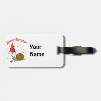 Happy Birthday! Confetti Snail Tag For Luggage