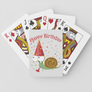 Happy Birthday! Confetti Snail Playing Cards