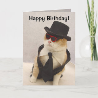 Happy Birthday, Cool Cat! Card