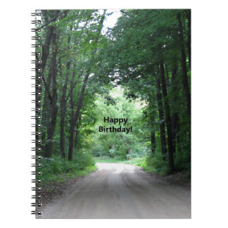 Happy BIrthday Country Road Spiral Notebook