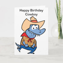 Happy Birthday Cowboy Cartoon Card