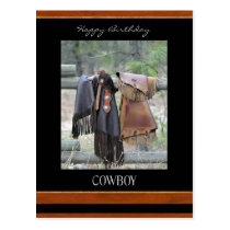Happy Birthday Cowboy Postcard