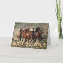Happy Birthday Cowgirl Card