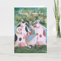 Happy Birthday cows Card