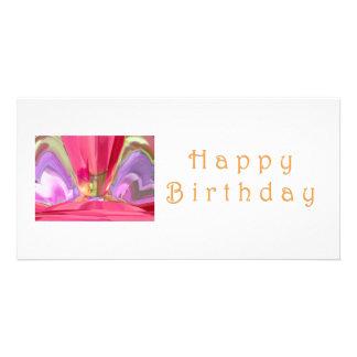 Happy Birthday Crysal: RedRose PinkRose Petal Art Card