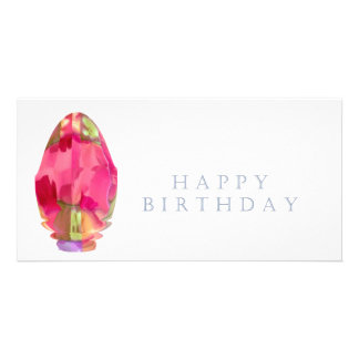 Happy Birthday Crystal RedRose PinkRose Petal Card