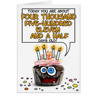 Happy Birthday Cupcake - 12 years old Greeting Card