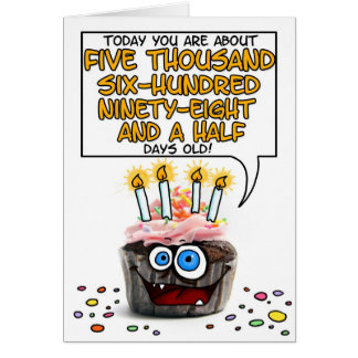 Happy Birthday Cupcake - 15 years old Greeting Cards