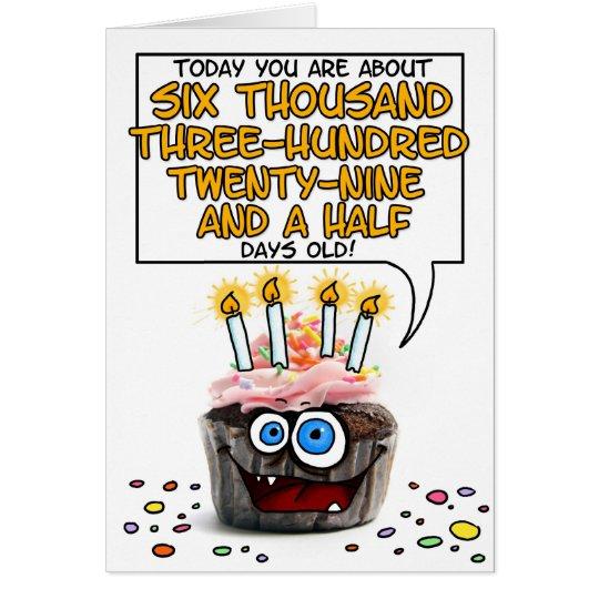 Happy Birthday Cupcake - 17 years old Card