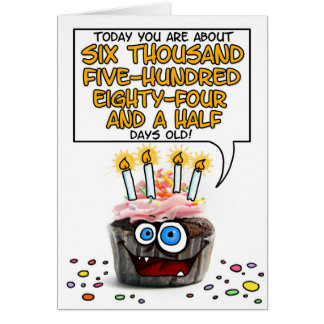 Happy Birthday Cupcake - 18 years old Card