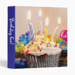 """Happy Birthday Cupcake 1"""" Photo Album 3 Ring Binder"""