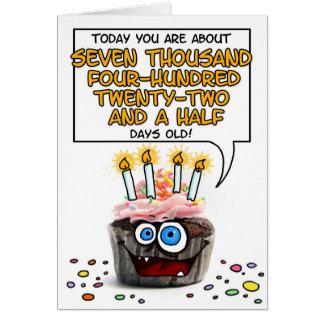 Happy Birthday Cupcake - 20 years old Card