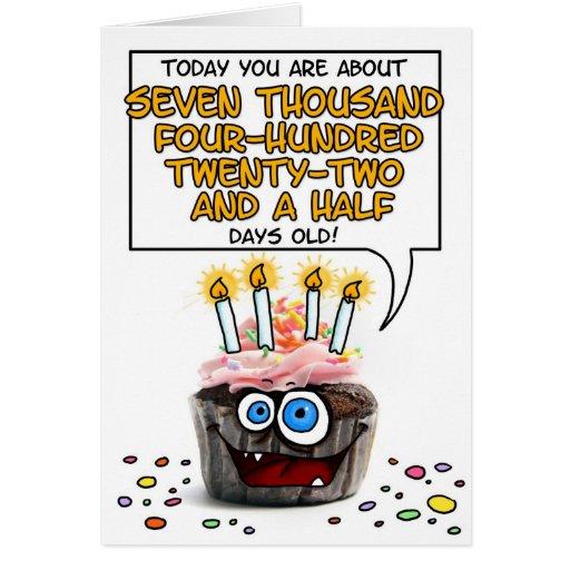 Happy Birthday Cupcake - 20 years old Greeting Card