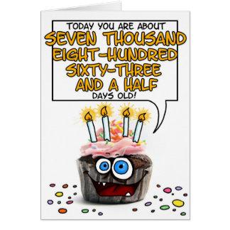 Happy Birthday Cupcake - 21 years old Greeting Card