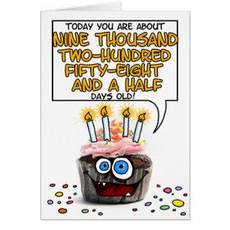 Happy Birthday Cupcake - 25 years old Card