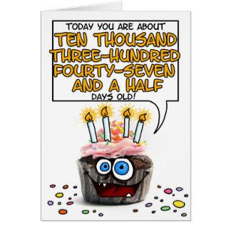 Happy Birthday Cupcake - 28 years old Card