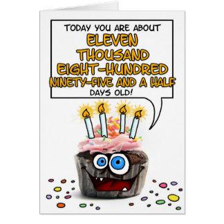 Happy Birthday Cupcake - 32 years old Card