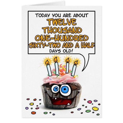 Happy Birthday Cupcake - 33 years old Card
