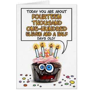 Happy Birthday Cupcake - 38 years old Card