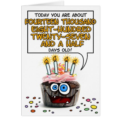Happy Birthday Cupcake - 40 years old Greeting Cards