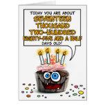 Happy Birthday Cupcake - 47 years old Greeting Card