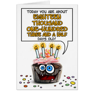 Happy Birthday Cupcake - 49 years old Card