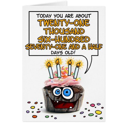 Happy Birthday Cupcake - 59 years old Cards