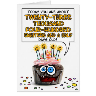 Happy Birthday Cupcake - 64 years old Greeting Card