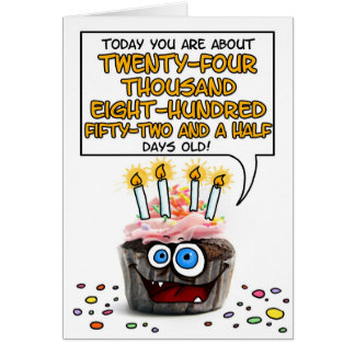 Happy Birthday Cupcake - 67 years old Greeting Card