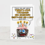 "Happy Birthday Cupcake - 70 years old Card<br><div class=""desc"">How many days old are you - fun birthday card for a 70 year old</div>"