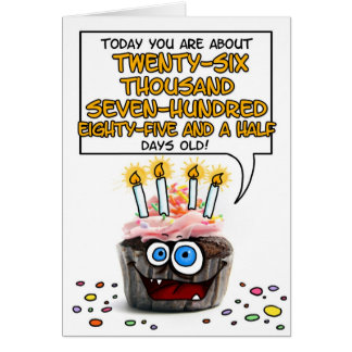 Happy Birthday Cupcake - 73 years old Card