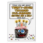 Happy Birthday Cupcake - 75 years old Greeting Card