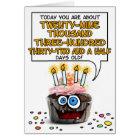 Happy Birthday Cupcake - 80 years old Card