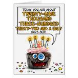 Happy Birthday Cupcake - 80 years old Greeting Card