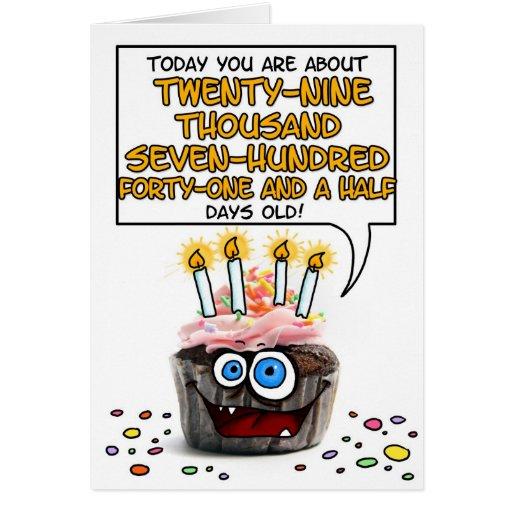 Happy Birthday Cupcake - 81 years old Greeting Card