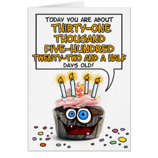 Happy Birthday Cupcake - 86 years old Card