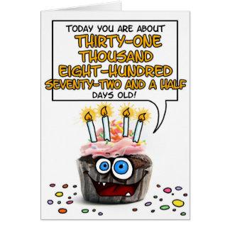 Happy Birthday Cupcake - 87 years old Card