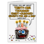 Happy Birthday Cupcake - 87 years old Greeting Card