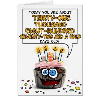 Happy Birthday Cupcake - 87 years old Greeting Card