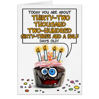 Happy Birthday Cupcake - 88 years old Card