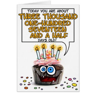 Happy Birthday Cupcake - 8 years old Card