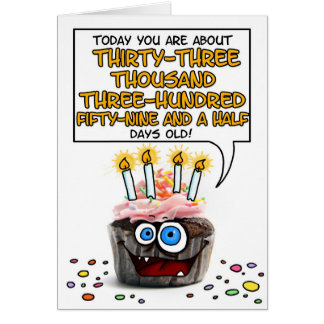 Happy Birthday Cupcake - 91 years old Card