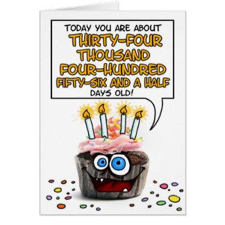 Happy Birthday Cupcake - 94 years old Greeting Card