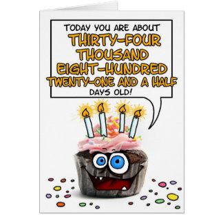 Happy Birthday Cupcake - 95 years old Card