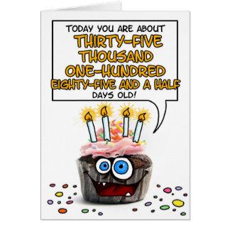 Happy Birthday Cupcake - 96 years old Card