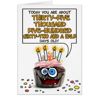 Happy Birthday Cupcake - 97 years old Card